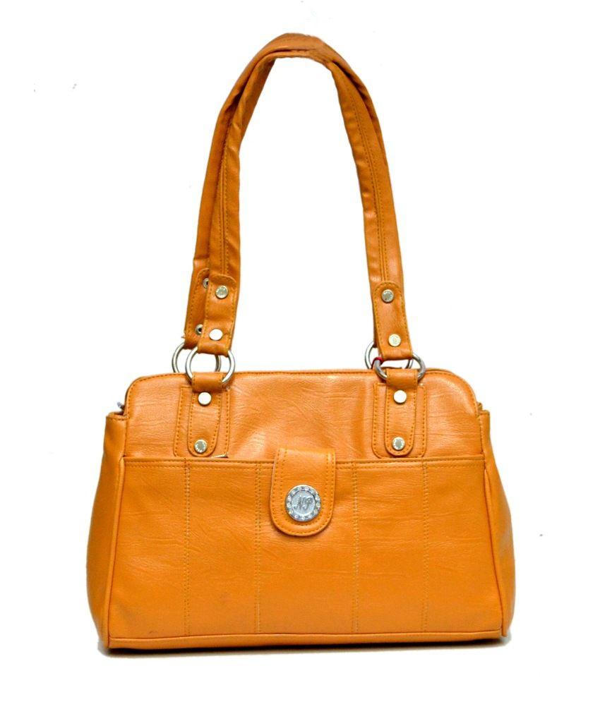 Amazing India Leather Yellow Satchel Bag