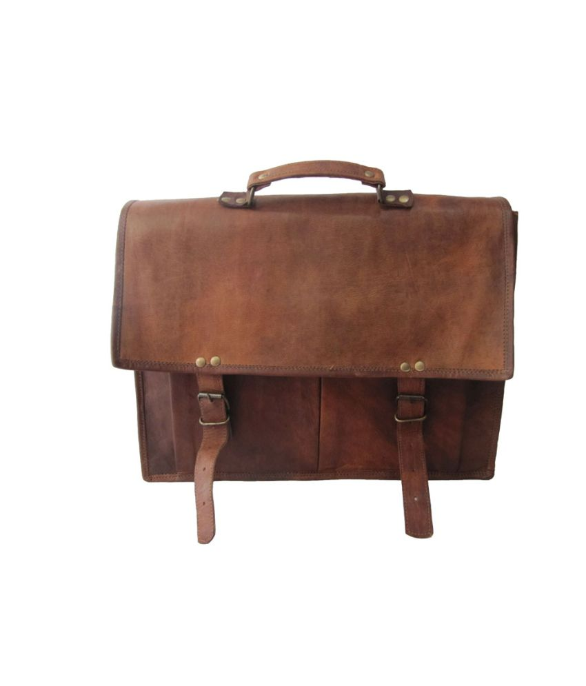 Kalika Arts Brown Leather Utility Bag