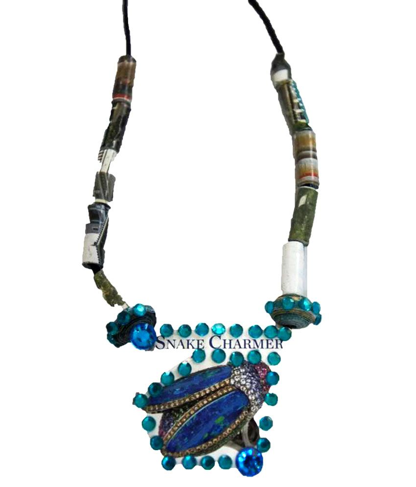 My Craft Blue Traditional Necklace