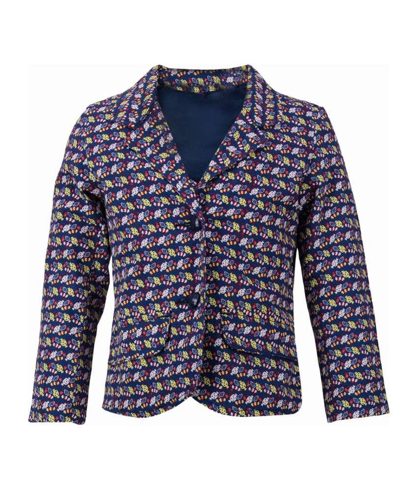 Tickles Navy Cotton Girls Jacket