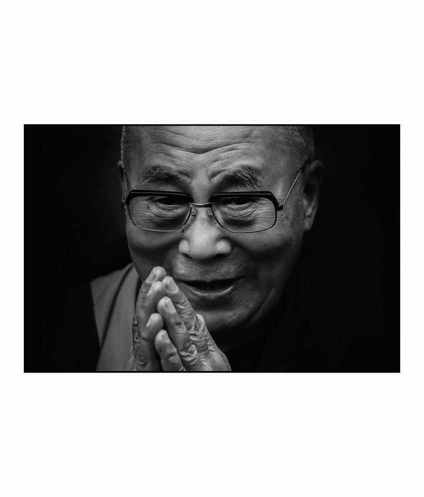 Artifa Dalai Lama Black & White Poster: Buy Artifa Dalai ...