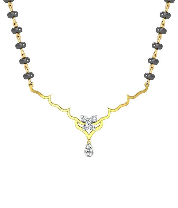 Avsar 18kt Gold & Real Diamond Kimaya Mangalsutra Necklace