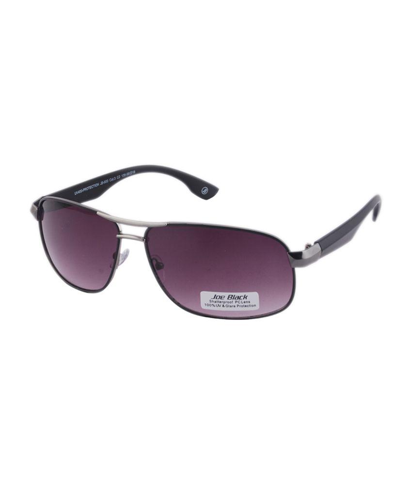 Joe Black Purple Rectangle Sunglasses (JB-600-C2)