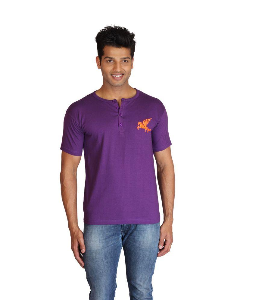 Men's Solid Henley Tshirt