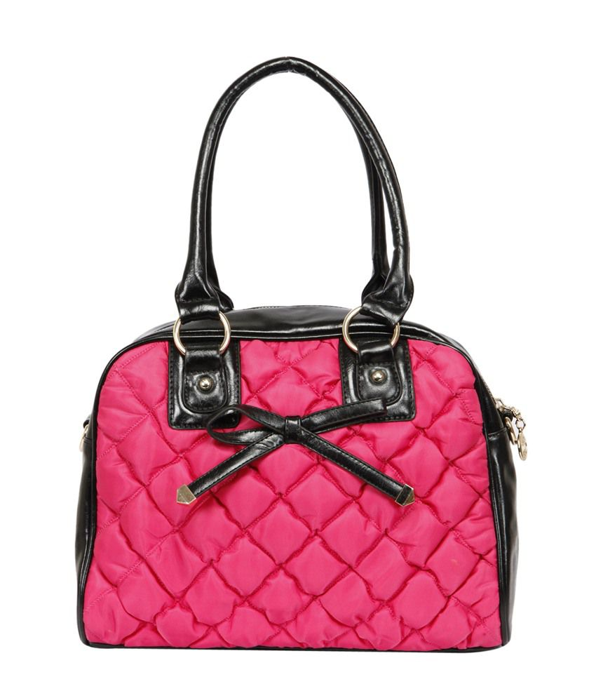 The Gud Look Non Leather Pink Handbag