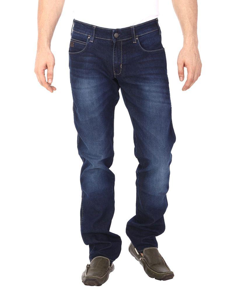 Wrangler Mens Slim Fit Blue Jeans