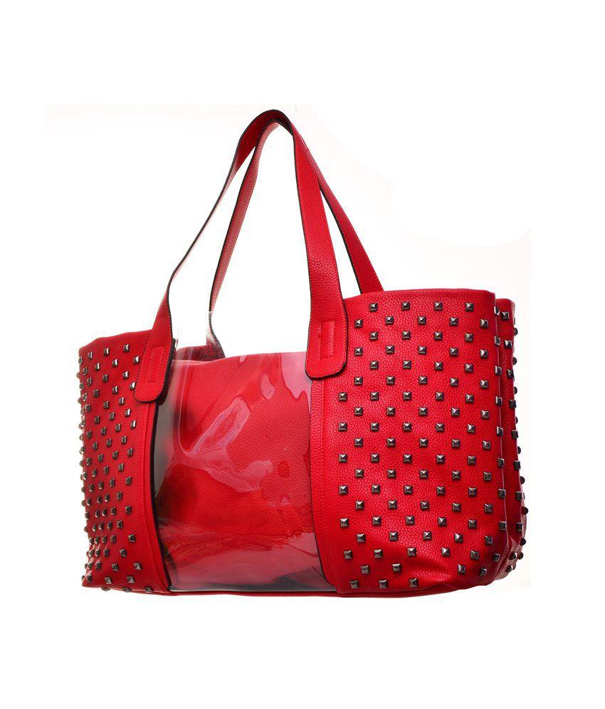 f5db0e6499 ZENO Designer Tote Bag - Red - Buy ZENO Designer Tote Bag - Red ...