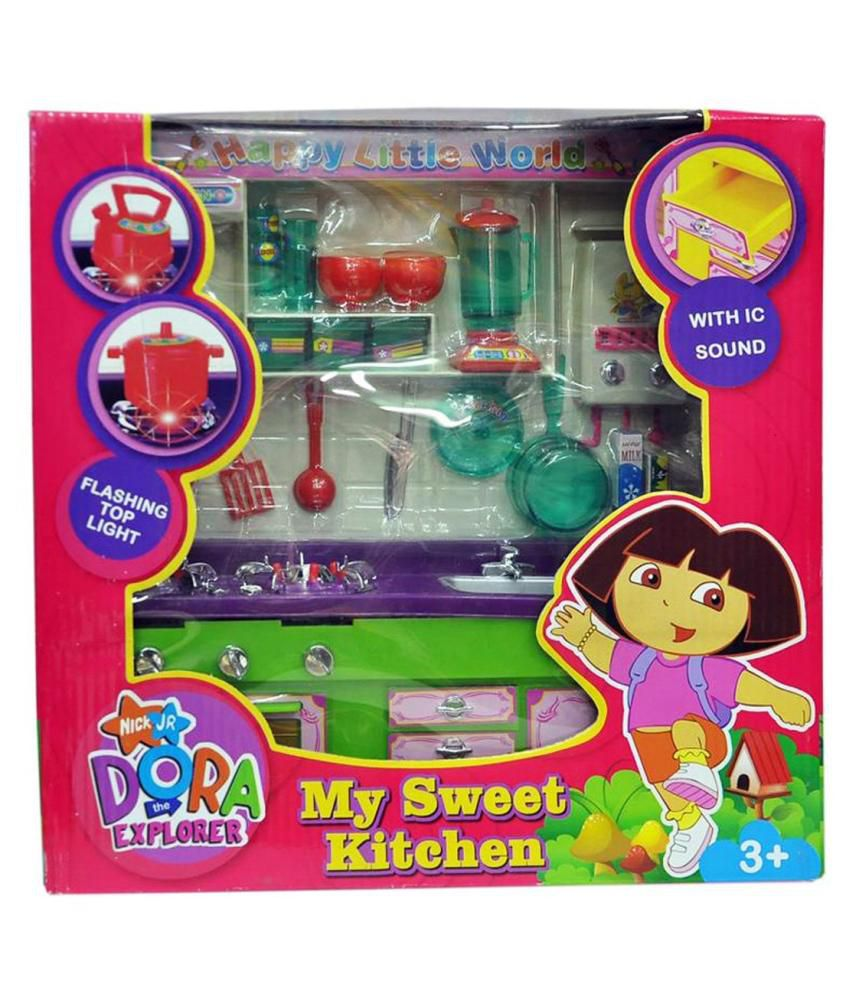 Fantasy india dora the explorer my sweet kitchen set buy for My kitchen set