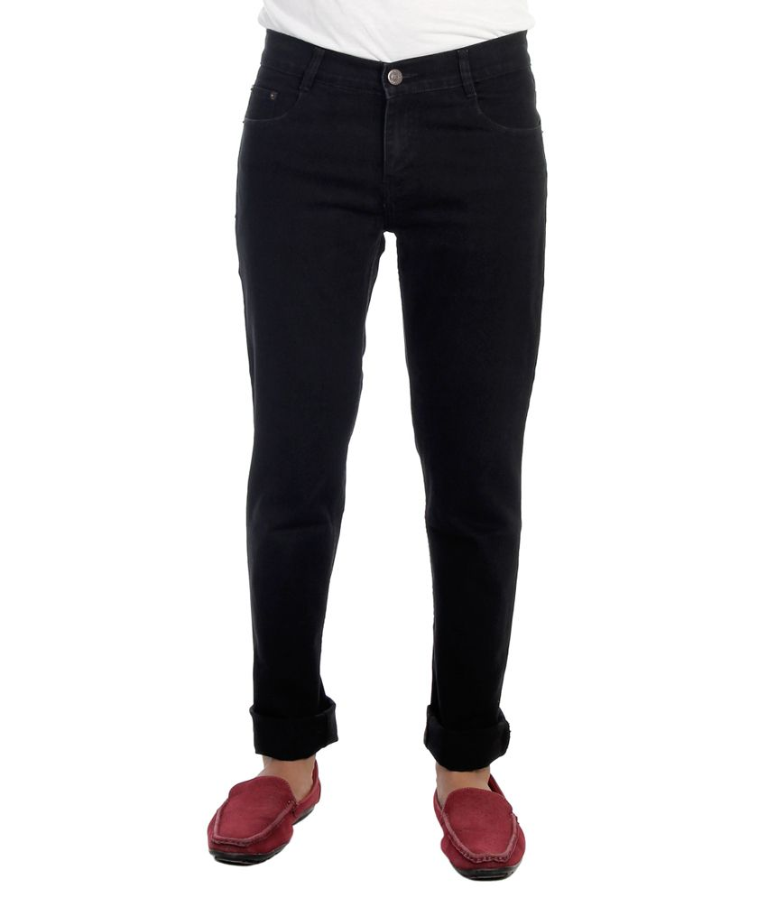 Haltung Streachable Black Cotton Blend Denim Jeans