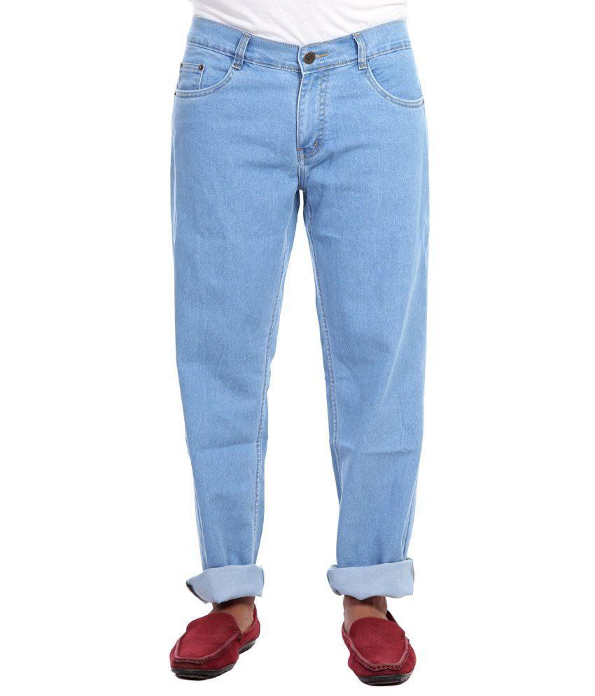 Haltung Streachable Light Blue Cotton Blend Denim Jeans