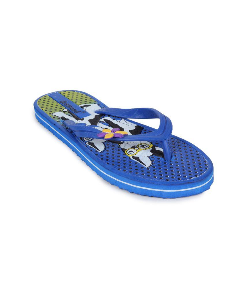 11e Blue Flat Flip Flops