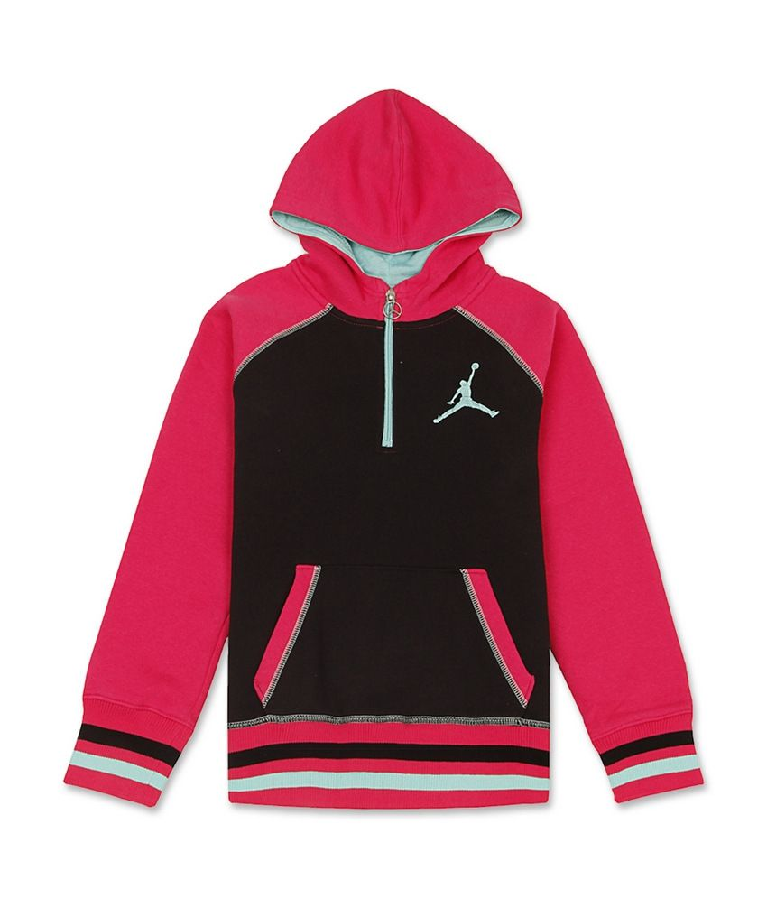 Jordan Kids Black-Pink Full Sweat Shirt For Kids