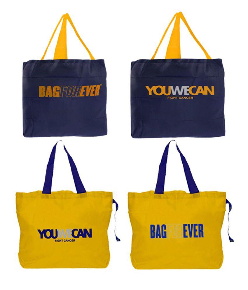 813e93f15 Bagforever Multicolour Designer Shopping Bags - Pack Of 4 - Buy Bagforever  Multicolour Designer Shopping Bags - Pack Of 4 Online at Low Price -  Snapdeal