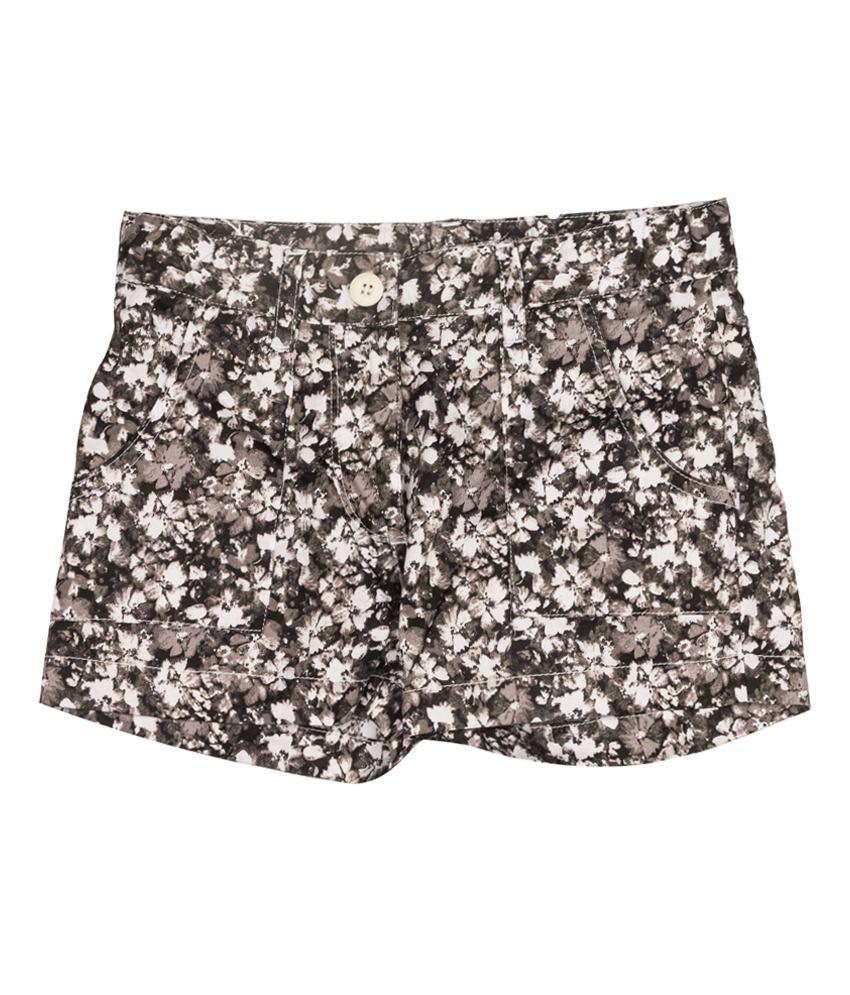Miss Alibi Gray Woven Shorts