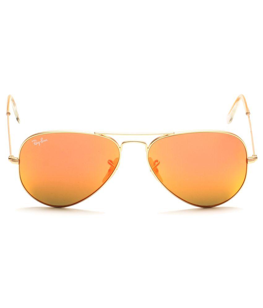 d42153ace8b Ray-Ban Orange Aviator Sunglasses (RB3025 112 69 58-14) - Buy Ray ...