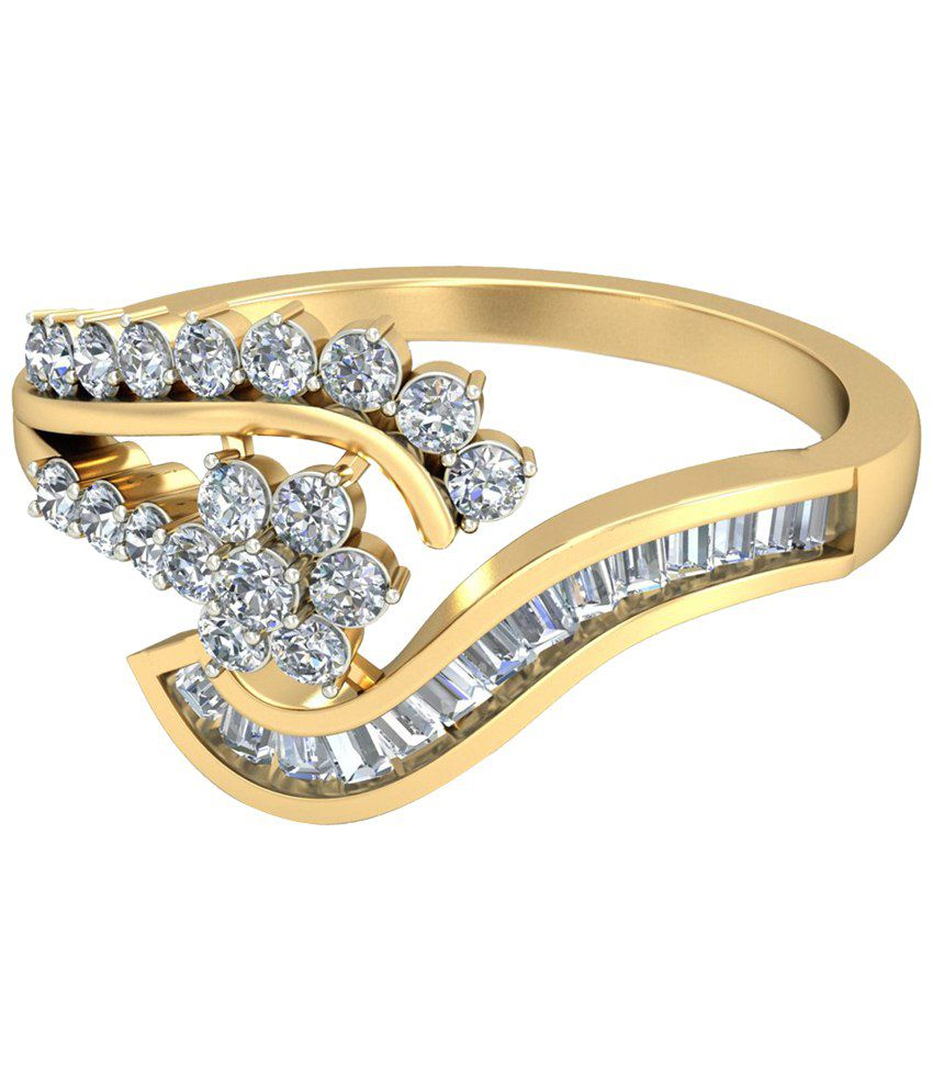 The Cabeiri Diamond Ring 14KT Gold WearYourShine by PC Jeweller