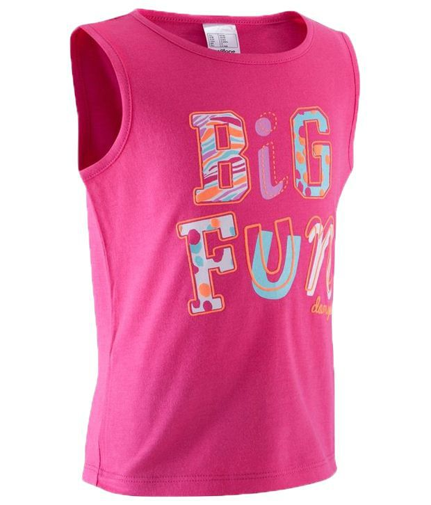 Domyos Pink Fitness Tank Top For Girls