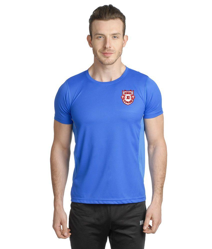 T10 Sports Blue Kxip Ipl Microfiber Reflective T-shirt