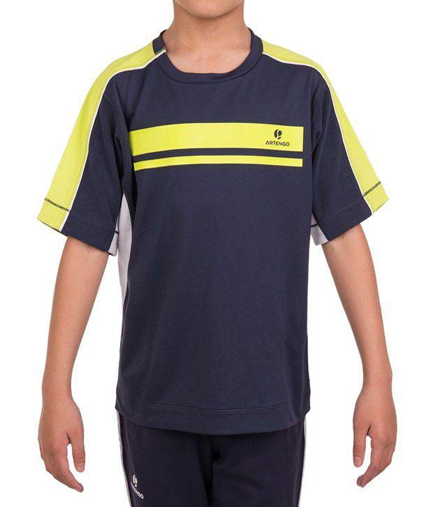 Artengo Attractive Navy Tennis T Shirt for Boys