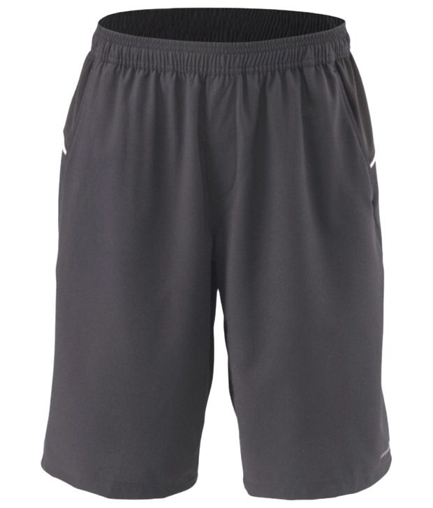 Artengo Soothing Gray Long Tennis Shorts for Men
