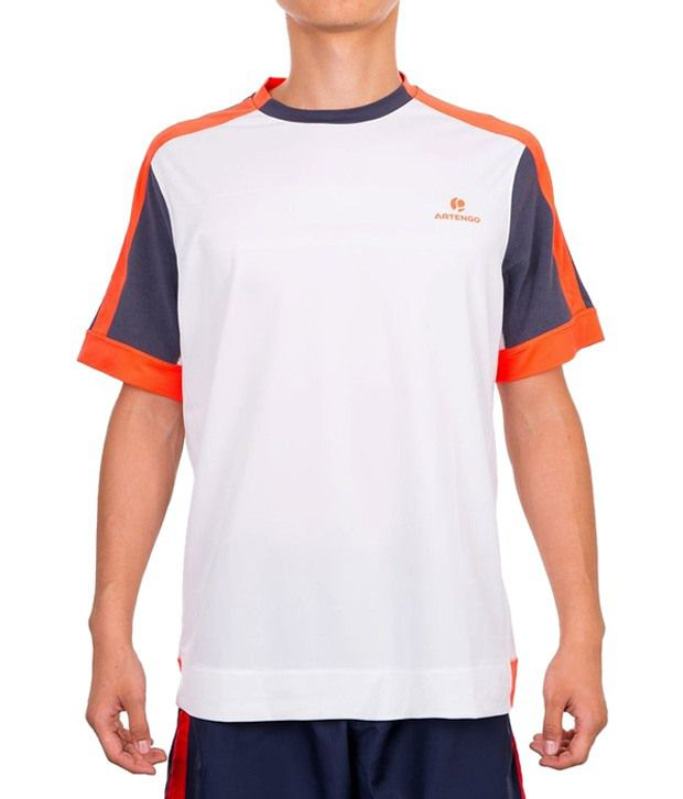 Artengo White Coral T Shirt for Men