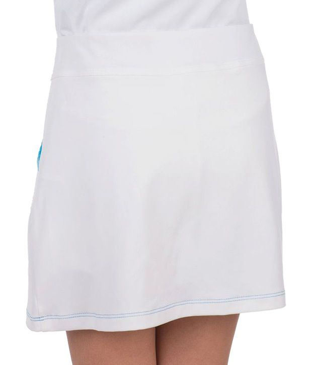 Artengo White Pocket Skirt for Girls