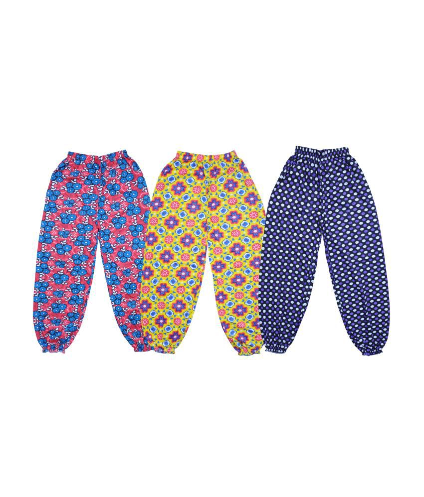 Bodymate Cotton Printed Capris Pack of 3