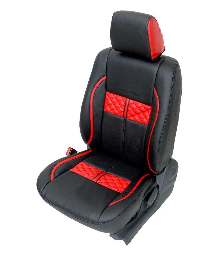 Club Class Ford Figo Car Seat Cover Design For Turbo Black Red