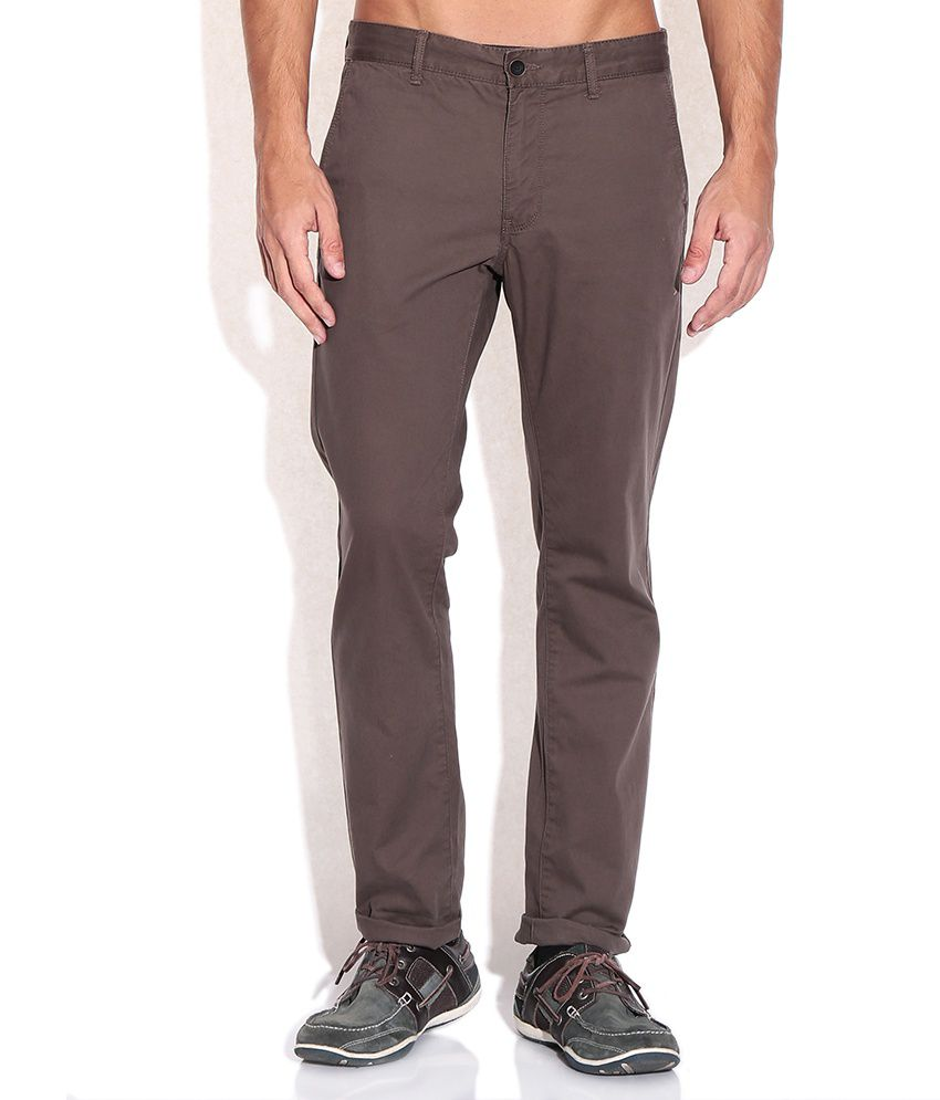 Indian Terrain Regular Brown Trousers