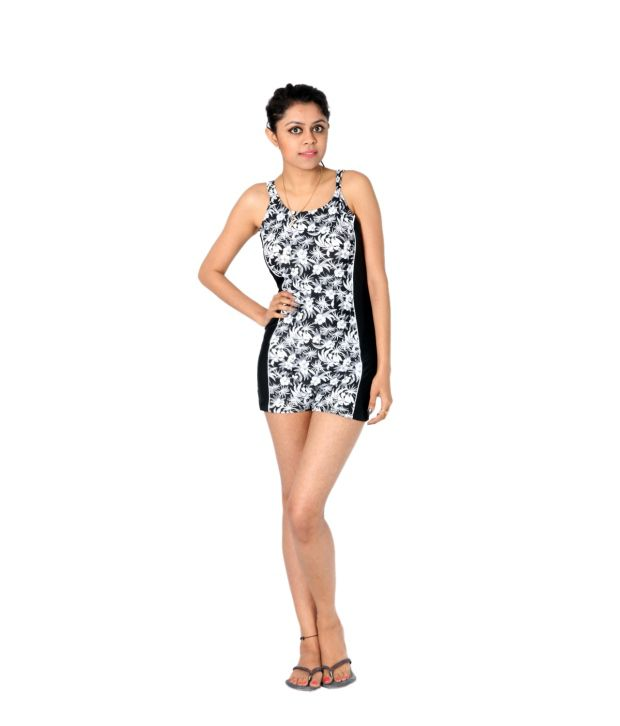 Indraprastha Black And White Swimsuit/ Swimming Costume
