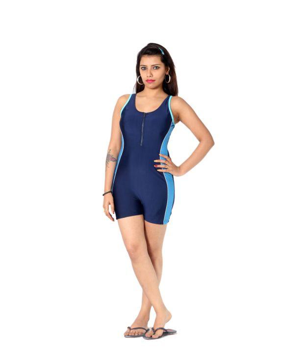 Indraprastha Navy Shorts Style Swimsuit/ Swimming Costume
