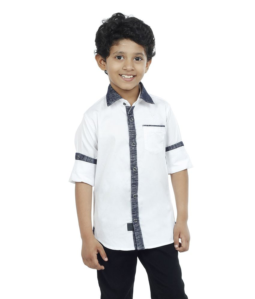 62fc1b461416 OKS BOYS White Cotton Full Sleeves Shirt - Buy OKS BOYS White Cotton Full  Sleeves Shirt Online at Low Price - Snapdeal