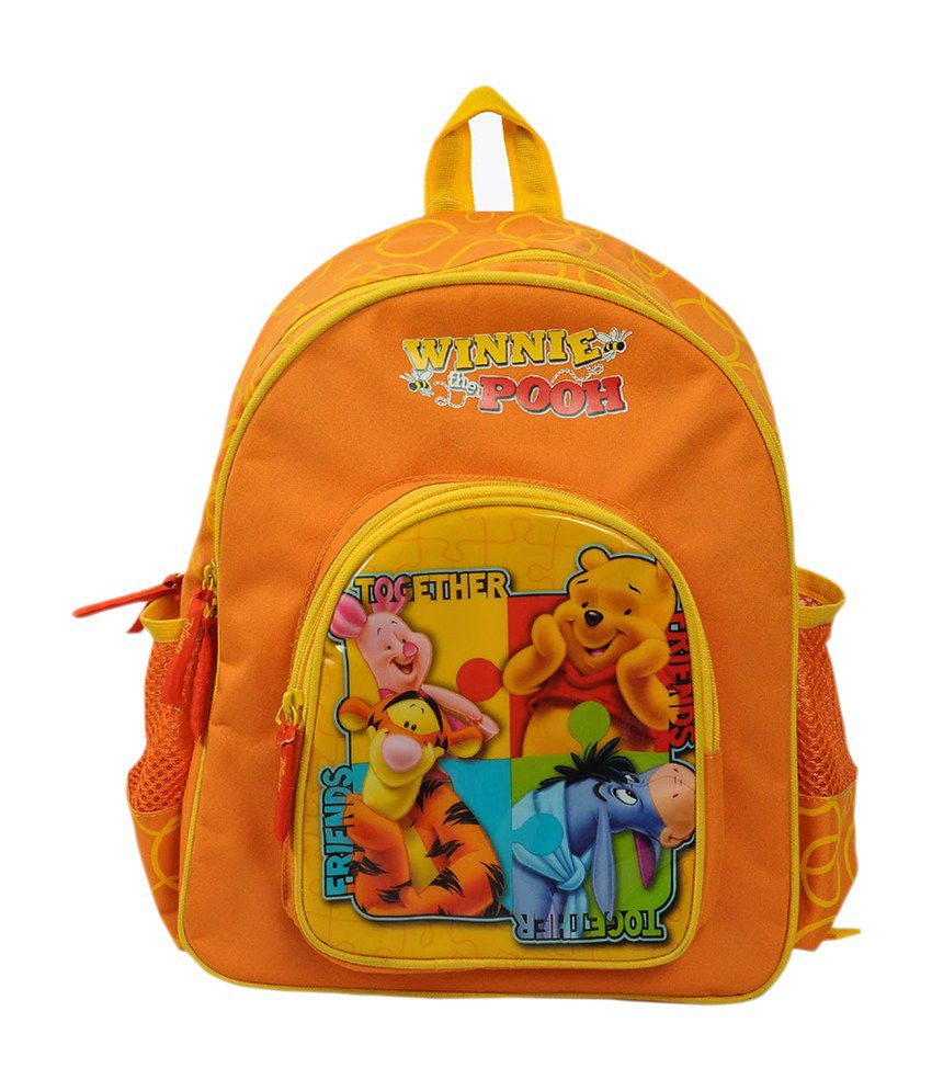 School bag for year 7 - Disney Orange Winnie Poooh Waterproof School Bag For 4 To 7 Year Children