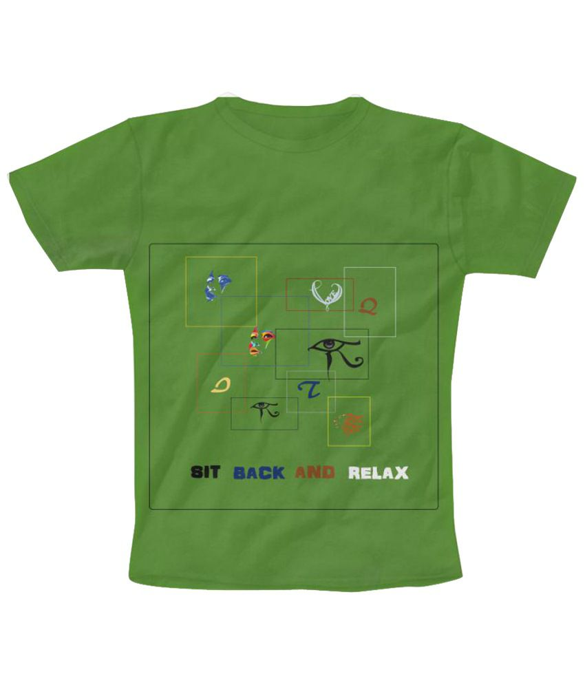 Freecultr Express Frame Graphic Green Half Sleeve T Shirt
