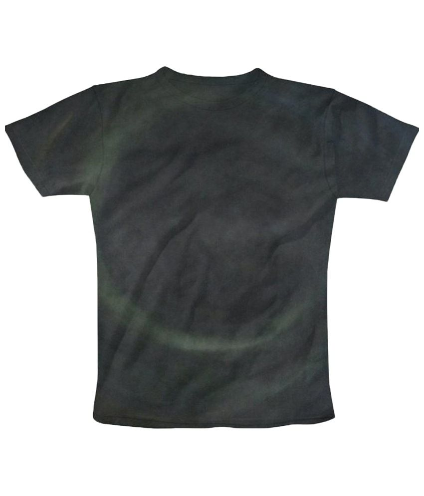 Freecultr Express Green Graphic Black Half Sleeve T Shirt