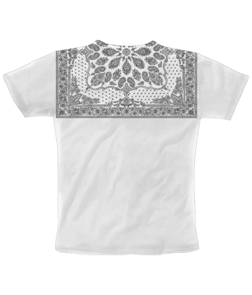 Freecultr Express Homemade Bandana Graphic White Short Sleeve T Shirt