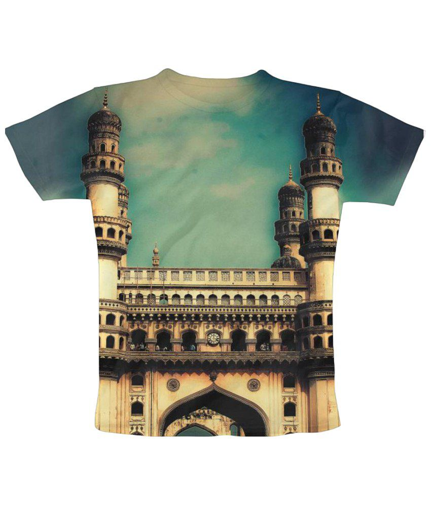 Freecultr Express Hyderabad Graphic Multicolour Half Sleeve T Shirt