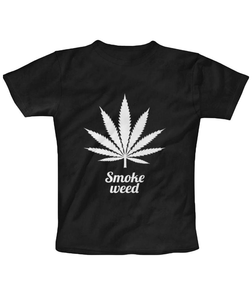 Freecultr Express Smoke Weed And Take High Graphic Black & White Half Sleeve T Shirt