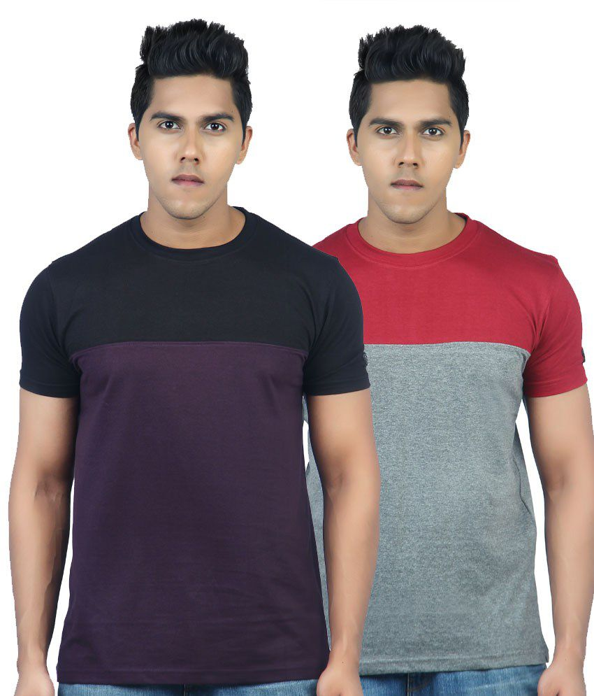 KROOK COLOR BLOCK T SHIRT PACK OF 2