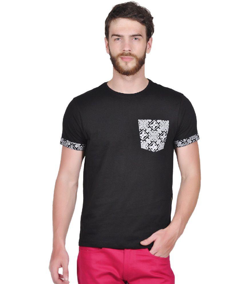 Tiktauli de. Corps. Cotton Black Hova Paisley T-Shirt
