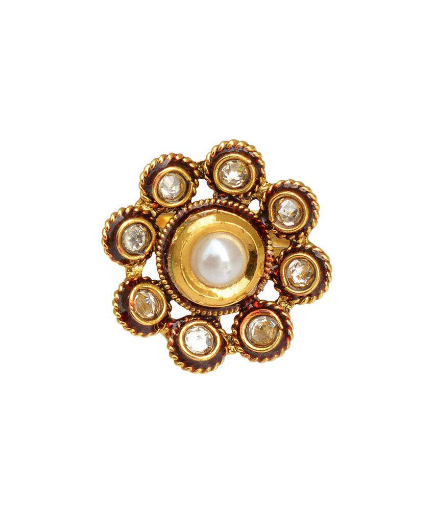 ADIVA White Copper Bridal Wear Toe-Ring