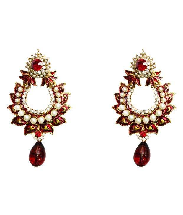 Red Chandelier India: Dhwani Creation Red Chandeliers