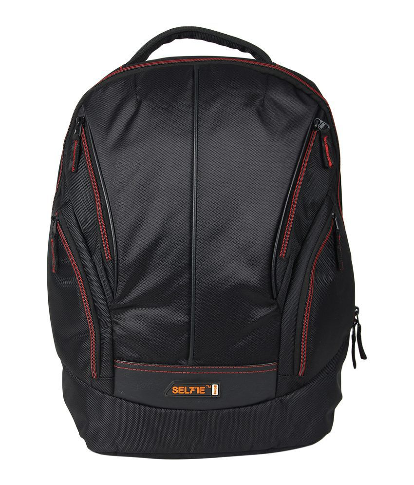 Selfieseven Black Laptop Backpack