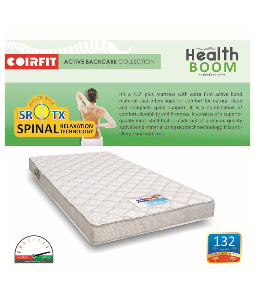 coirfit health boom active 4 5 inches spine specialist buy coirfit