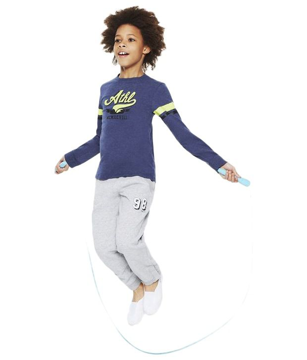 Domyos Blue Fitness Long Sleeves T Shirt For Boys