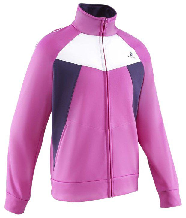 Domyos Light Pink Sleeves Fitness Jacket For Women