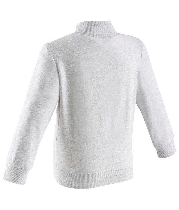 Domyos White Fitness Jacket For Boys