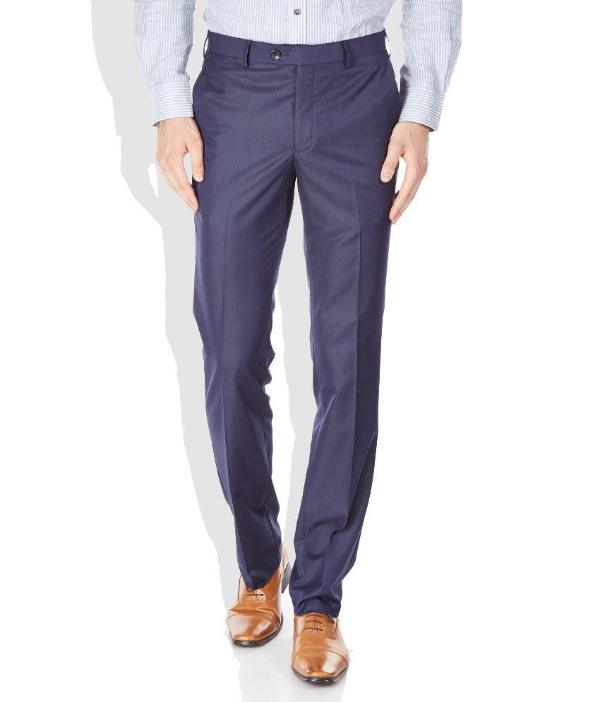 Raymond Blue Contemporary Fit Formal Trousers
