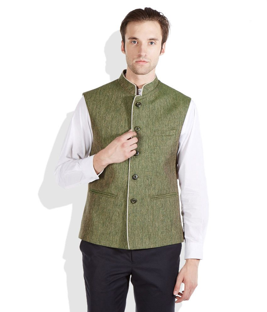 Raymond Green Contemporary Fit Partywear Waistcoat