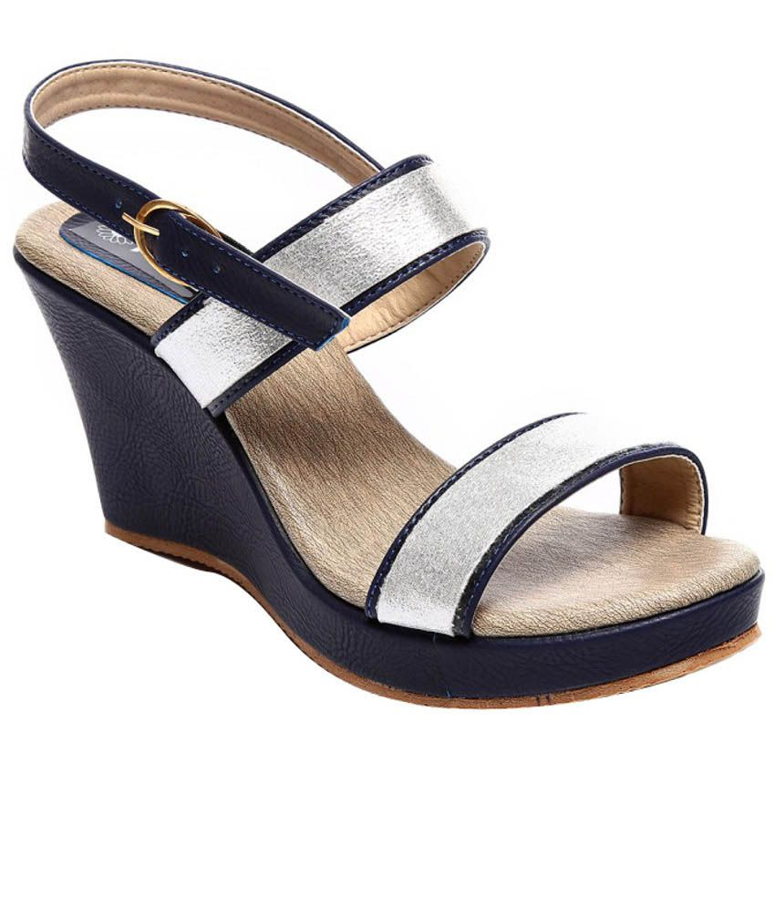 Nell Attractive Blue Heeled Sandals